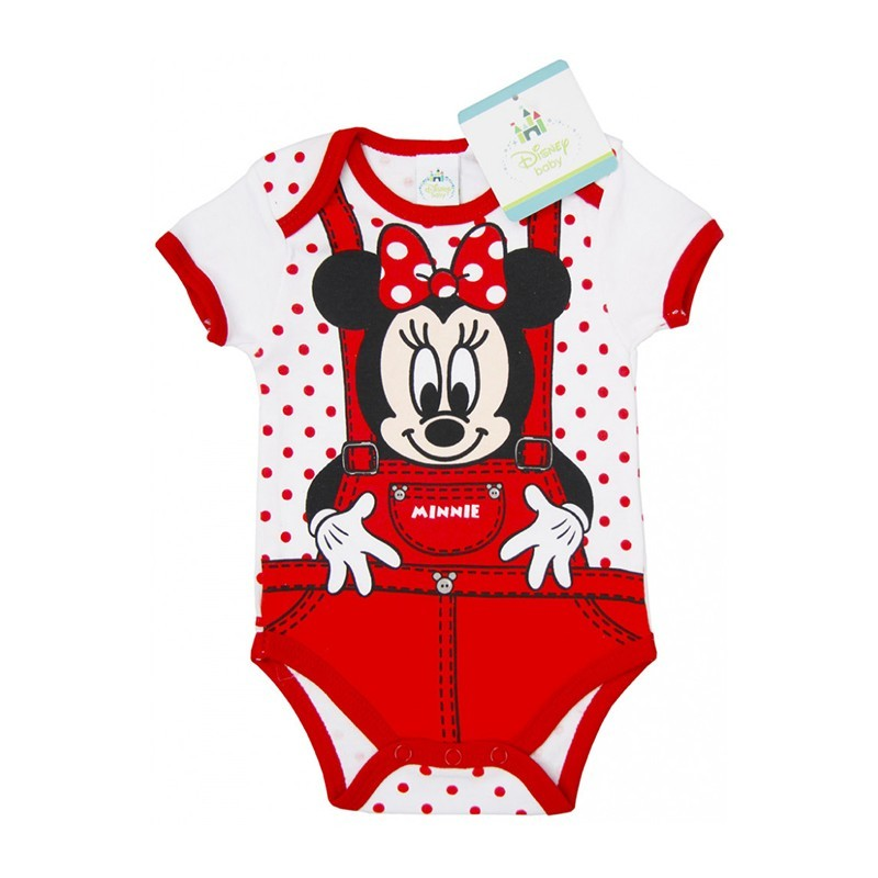Minnie Mouse Disney mesefigurával díszített rövid ujjú pamut body. Kitűnő  választás mindennapi használatra a nyári jó időben 595716d454